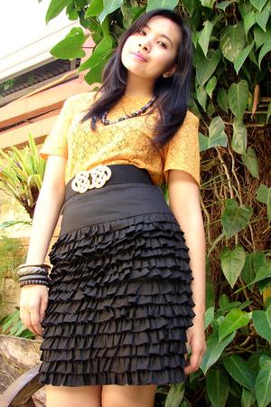 black thrift skirt