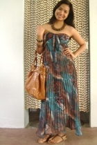 chiffon maxi from some local boutique called Lhasa dress - Syrup sequined sandal