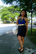 Zara tank top - thrifted skirt - thrifted belt - prp shoes - Charles & Keith bag