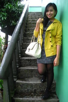 vintage dress - thrfited coat - People are People shoes - Charles & Keith bag ac