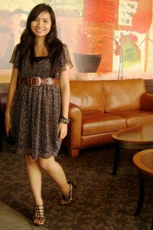 Mango chiffon dress - Esprit belt - Syrup caged shoes