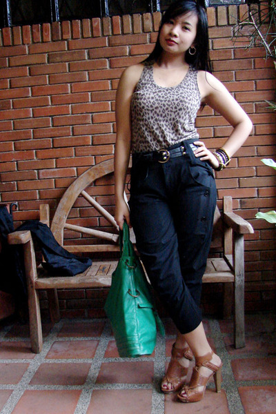 Mango top - Zara pants - prp shoes - hand me down bag accessories