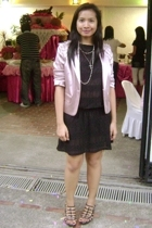 Tha Ramp sheer dress - from HK silk blazer - Syrup from PRP caged shoes