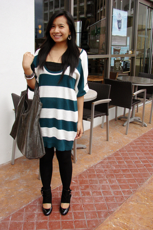 Freeway knit dress - leggings - Zara shoes - MNG bag accessories