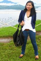 Mango shirt - Topshop blazer - 7 for all mankind jeans - Ralph Lauren shoes - th