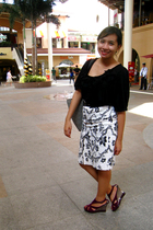 kashieca top - thrifted skirt - Charles & Keith shoes