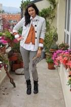 H&M bag - asos boots - Cheap Monday jeans - Zara jacket - brothers shirt