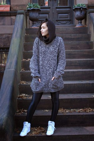 gray vintage sweater - black H&M sweater
