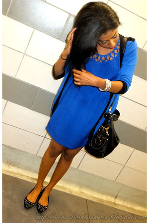 Forever21 dress - Forever21 bag - Payless flats