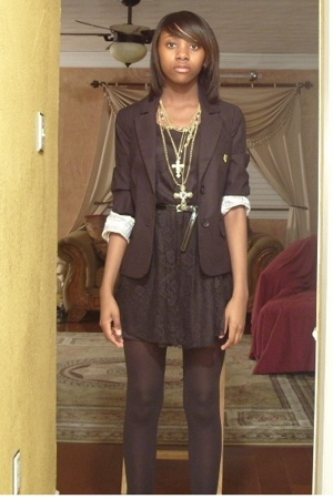 Forever21 blazer - Forever21 dress - Forever21 necklace - Steve Madden shoes