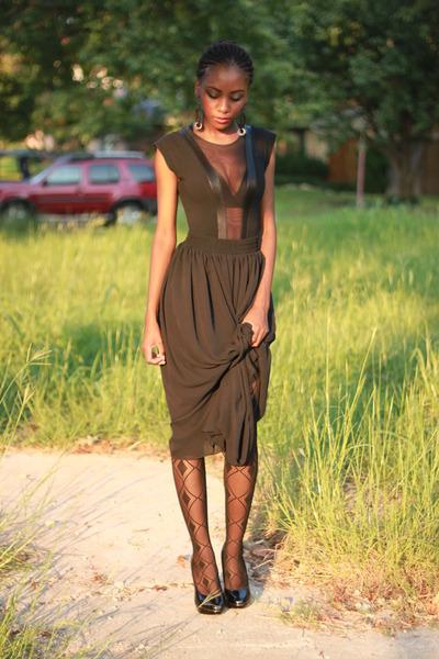 black long chiffon American Apparel skirt - black Forever 21 shoes