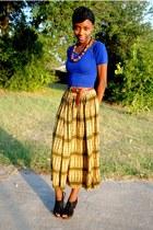 skirt - crop top American Apparel shirt - Steve Madden wedges
