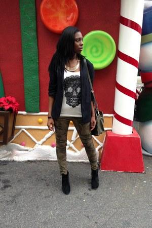 camoflouge Zara jeans - boyfriend blazer