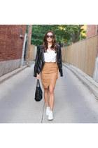 suede skirt House of CB skirt - leather jacket Skingraft jacket