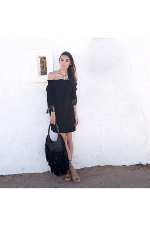 fringe bag Barbara Bonner bag - kensie shoes - Fifteen Twenty dress