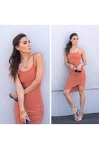 dark khaki pamela love necklace - burnt orange Forever Modo dress