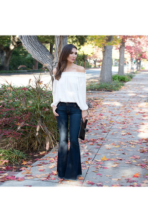 vamastyle top - flare jeans free people jeans