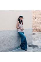 periwinkle lulus top - sky blue Panarea Couture pants