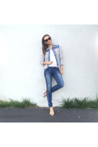 denim jacket Rebecca Taylor jacket - skinny jeans Hudson jeans