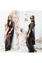 boots acne boots - black lace dress SAU dress