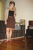 banana republic sweater - Old Navy top - To The Max skirt - banana republic shoe