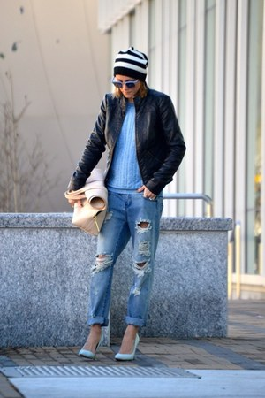 31 Phillip Lim bag - One Teaspoon jeans - madewell sweatshirt - shoemint pumps