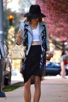Alexander McQueen scarf - Gap jacket - balenciaga bag - Helmut Lang skirt