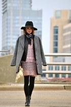 Alexander McQueen scarf - shoemint boots - madewell coat - balenciaga bag