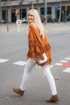 tawny booties Tex boots - white Paco Martinez bag - white skinny H&M pants