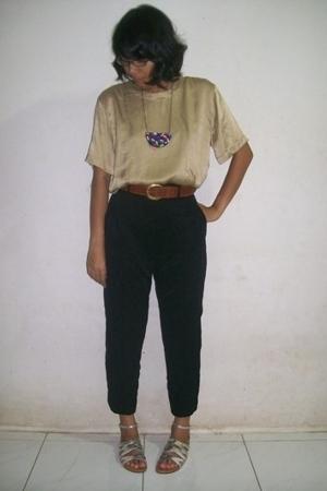 top - pants - -