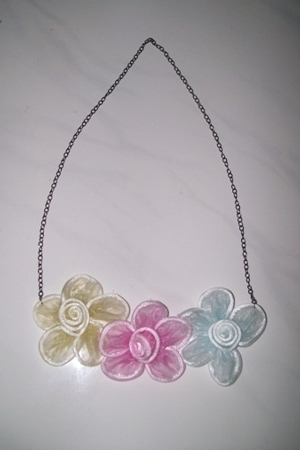 D.I.Y statement necklace