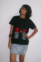 t-shirt - top - skirt -