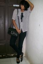 jeans - shoes - purse