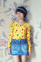 yellow unbranded top - blue Marmalade skirt