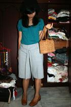 Gap shirt - vintage pants - purse - atestoni shoes