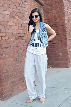 Urban Outfitters shirt - asos pants - denim Forever 21 vest