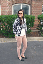 graphic tee Forever 21 shirt - blush Adriano Goldschmeid jeans