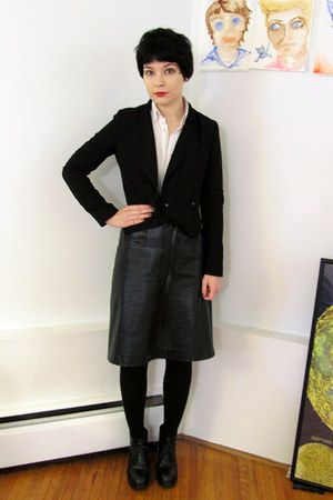 H&amp;M blazer - Slow and Steady Wins the Race blouse - Filippa K skirt - Pegabo boo