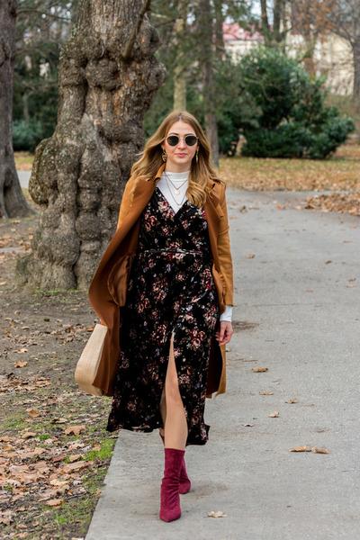 zaful shoes - BonPrix dress - zaful coat
