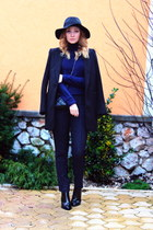 H&M hat - Zara boots - New Yorker coat - clutch Oasapcom bag - H&M pants