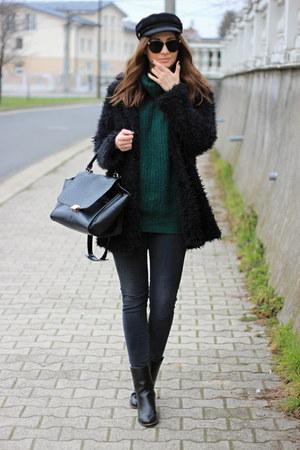 asos sweater - asos boots - DressLink coat - F&F jeans