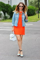 H&M jacket - F&F dress - asos bag - H&M sandals
