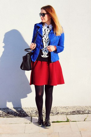 Oasapcom shoes - New Yorker jacket - Sheinsidecom sweater - Stradivarius skirt