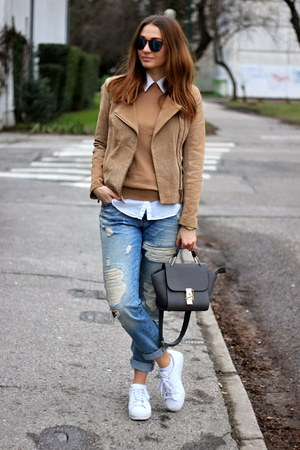 Mango jacket - New Yorker jeans - sammydress bag - Adidas sneakers