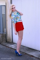 Boohoocom shorts - vintage top
