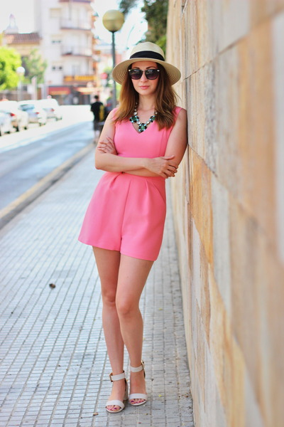 Primark hat - asos sandals - bubble gum F&F bodysuit
