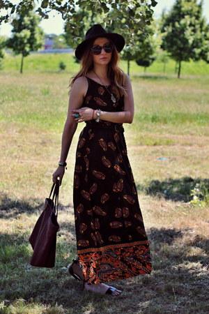 OASAP dress - OASAP hat - Mango bag - asos sandals