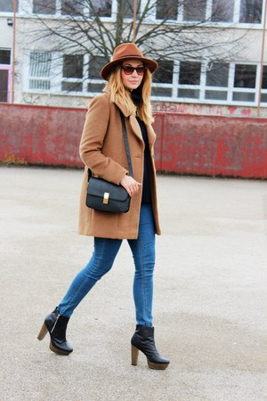 F&F coat - Newlook boots