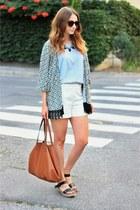 kimono DressLink cardigan - Mango bag - H&M shorts