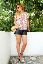 H&M shoes - asos bag - OASAP shorts - New Yorker top